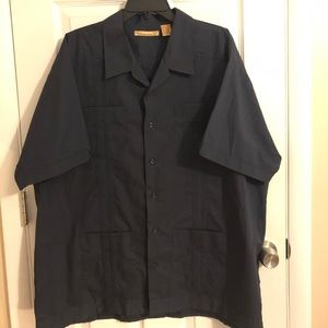 49e9121d Havanera Co. Shirts | Mens Navy Blue Guayabera Shirt | Poshmark